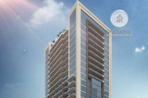 للبيع برج 17 طابق على شارعين في النادي السياحي
