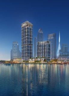 شقق للبيع بجوار فندق الادريس باطلالات مباشرة علي خور دبي واطول برج بالعالم