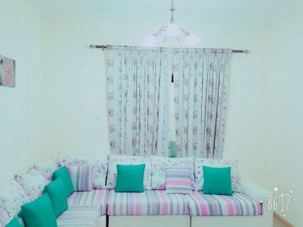 شقة مفروشة غرفتين وصالة من المالك مباشرة بدون عمولة بالشارقة القاسمية