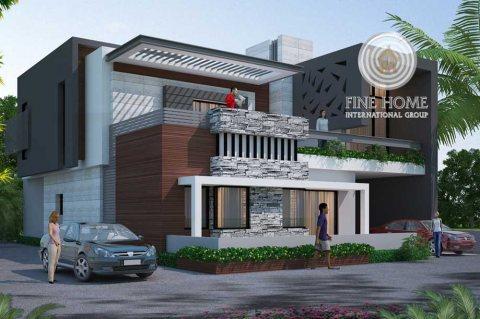 للبيع..فيلا 10 غرف VIP ملبسة بالحجر في مدينة شخبوط أبوظبي