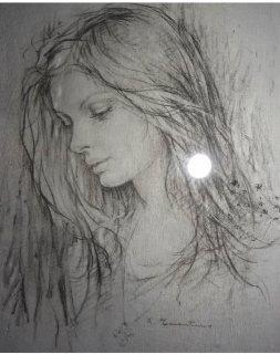 لوحه رسم للفنان جورج كوستنتين