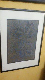لوحه نادره للفنان مصري شهير