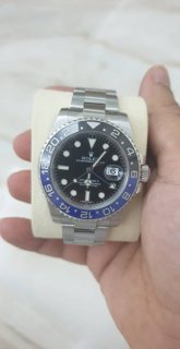 Rolex GMT Master II Black Dial Stainless Steel Men's Watch 116710 BLNR