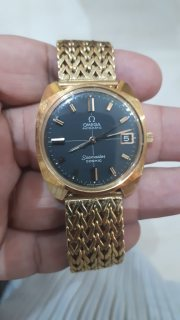 vintage OMEGA Seamaster Cosmic Date black dial Automatic Men's Watch_491286-2