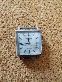 IWC White Gold Rectangular Wristwatch circa 1962