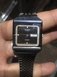 Rado DIASTAR Steel, Black and elegent watch