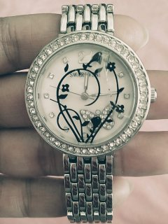 Swarovski Crystal white Dial Women's Watch