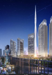 تملك شقة بمنطقة الخور بأفضل اطلاله على أطول برج فى العالم