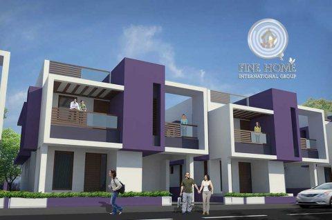 للبيع..مجمع فيلتين 10 غرف في شارع المطار أبوظبي