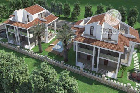 للبيع..مجمع فيلتين 12 غرفة في شارع المرور أبوظبي