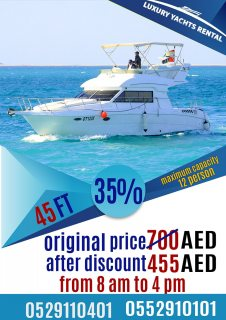 Book Now Get 35 % Offer on Luxury Yacht