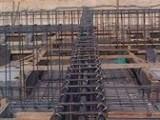 مقاول بناء هيكل نجارة وحدادة مسلحة مع المواد