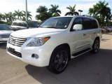 WHITE LEXUS LX 570 2011