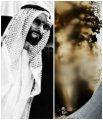 حجر عقيق  طبيعي يماني مصور يحتوي على مجسم لصورة الشيخ زايد وبجانبه رأس صقر
